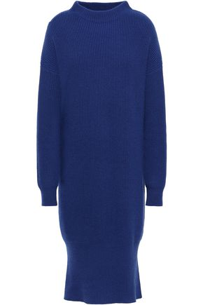 N.PEAL Ribbed cashmere turtleneck dress