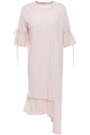 CLU Asymmetric cotton-jersey dress