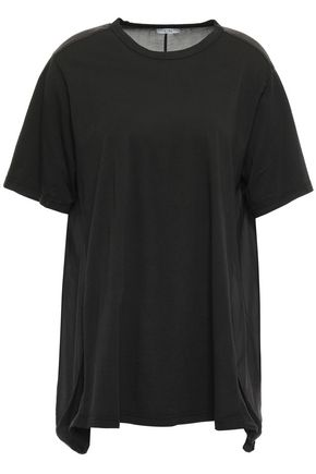 CLU Paneled cotton-jersey T-shirt