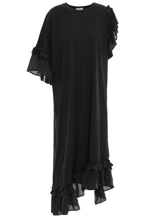 CLU Pleated satin-twill mini slip dress