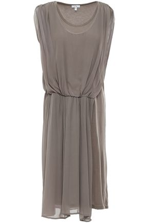 CLU Layered Tencel-jersey and georgette dress