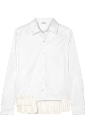 CLU Ruffle-trimmed cotton-poplin shirt