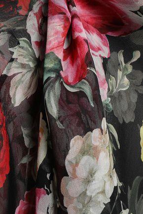 DOLCE & GABBANA Floral-print silk-chiffon top