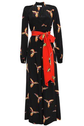 DIANE VON FURSTENBERG Printed silk crepe de chine jumpsuit