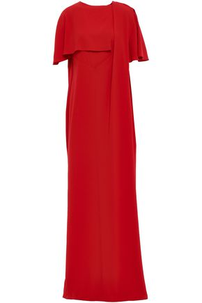 CHALAYAN Draped stretch-crepe gown