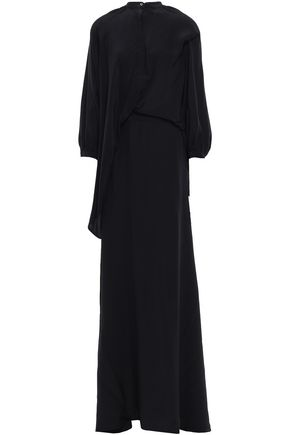 CHALAYAN Layered silk crepe de chine maxi dress