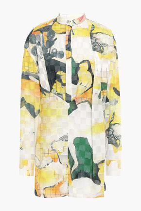 CHALAYAN Printed fil coupé chiffon shirt
