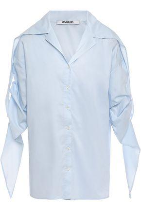 CHALAYAN Gathered cotton mousseline shirt