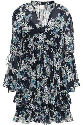 CINQ À SEPT Deirdra tiered floral-print georgette mini dress