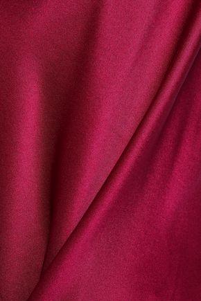 CINQ À SEPT Marta draped silk-charmeuse camisole