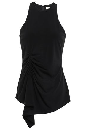 CINQ À SEPT Priya draped stretch-jersey top
