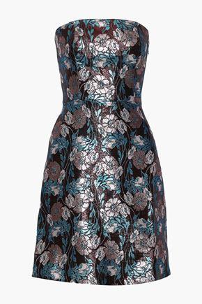 SACHIN & BABI Mirelle strapless brocade mini dress