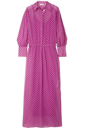BY MALENE BIRGER Nangila printed cotton and silk-blend crepon maxi dress