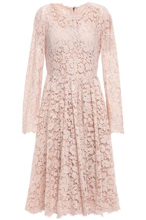 DOLCE & GABBANA Cotton-blend corded lace dress