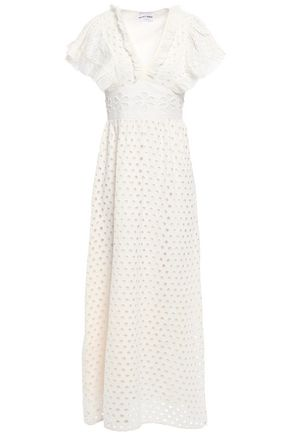 ANTIK BATIK Jada ruffle-trimmed broderie anglaise cotton maxi dress