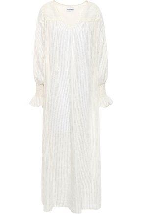 ANTIK BATIK Pinstriped cotton-blend maxi dress