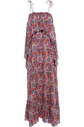 ANTIK BATIK Sam layered printed voile maxi dress