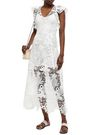 ANTIK BATIK Thelma ruffle-trimmed guipure lace maxi dress