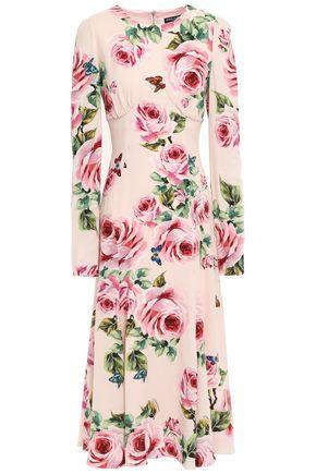 DOLCE & GABBANA Floral-print crepe midi dress