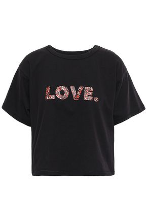 REBECCA MINKOFF Printed cotton-jersey T-shirt