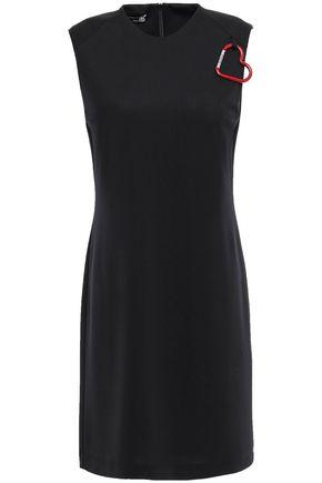 LOVE MOSCHINO Embellished jersey mini dress