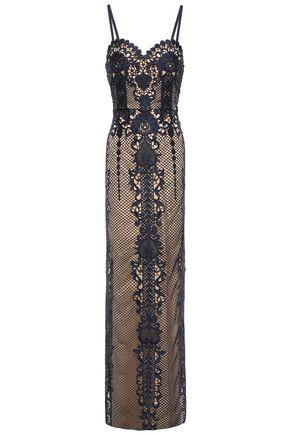 CATHERINE DEANE Macramé lace gown