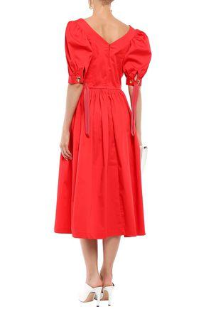 PERSEVERANCE Stretch-cotton midi dress