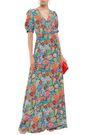 PERSEVERANCE フローラルプリント マキシラップドレス