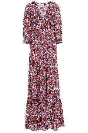 ANTIK BATIK Sam ruffle-trimmed printed voile maxi dress
