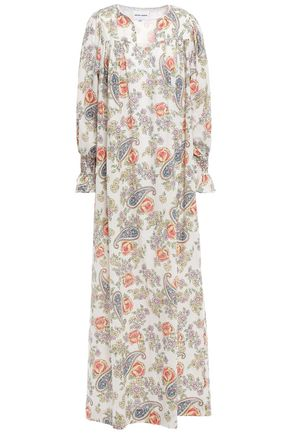 ANTIK BATIK Vika gathered printed cotton-voile maxi dress
