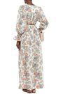 ANTIK BATIK Vika gathered printed cotton-voile maxi dress