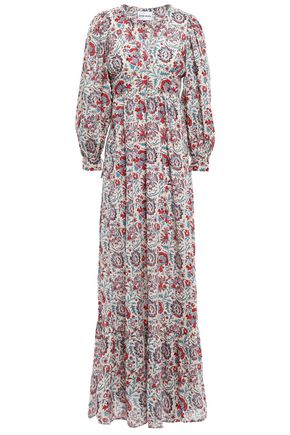 ANTIK BATIK Betsie gathered printed cotton maxi dress