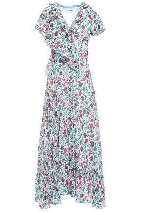 ANTIK BATIK Lally ruffled floral-print cotton-gauze maxi dress