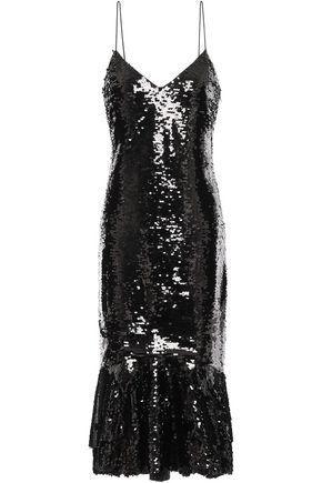 SACHIN & BABI Evren sequined tulle midi dress