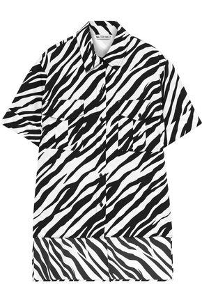 W118 by WALTER BAKER Zebra-print crepe de chine shirt