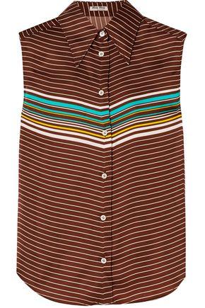 MIU MIU Striped satin shirt