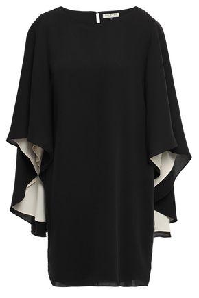 HALSTON HERITAGE Cape-effect cady mini dress