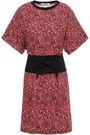 REBECCA MINKOFF Paneled floral-print cotton-jersey mini dress