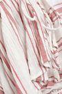 ANTIK BATIK Serifos ruffled striped cotton-gauze mini dress