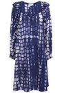 ANTIK BATIK Atlas ruffle-trimmed tie-dyed cotton dress