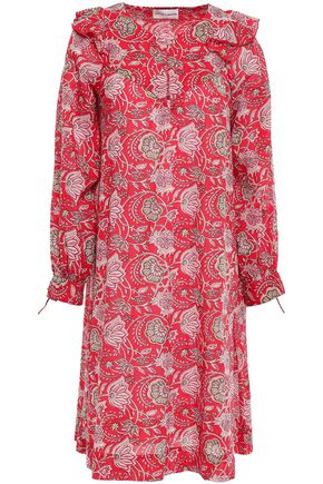 ANTIK BATIK Jody ruffle-trimmed cotton-voile dress