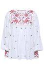 ANTIK BATIK Lilou embellished cotton-voile blouse
