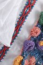 ANTIK BATIK Lovi crochet-paneled cotton-gauze blouse