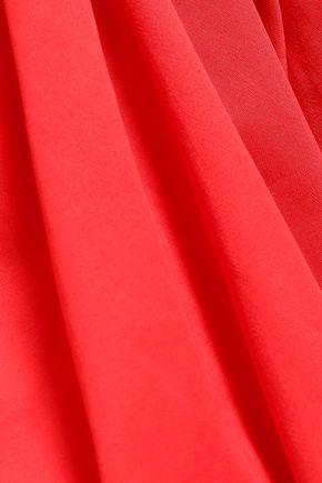 PERSEVERANCE Stretch-cotton peplum top