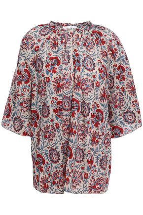 ANTIK BATIK Betsie oversized printed cotton blouse