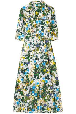 ERDEM Kasia floral-print cotton-poplin midi shirt dress