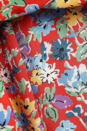 PERSEVERANCE Floral-print mousseline mini dress