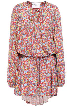 PERSEVERANCE Floral-print mousseline mini dress