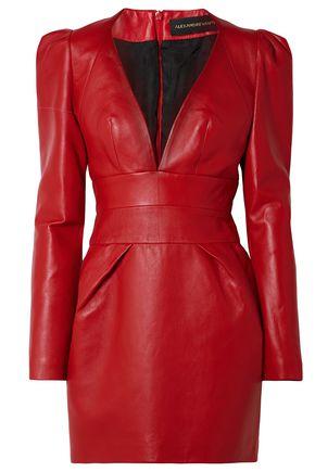 ALEXANDRE VAUTHIER Leather mini dress