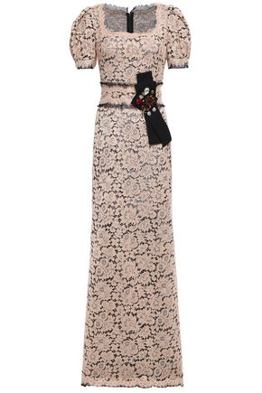 DOLCE & GABBANA Embellished lace maxi dress